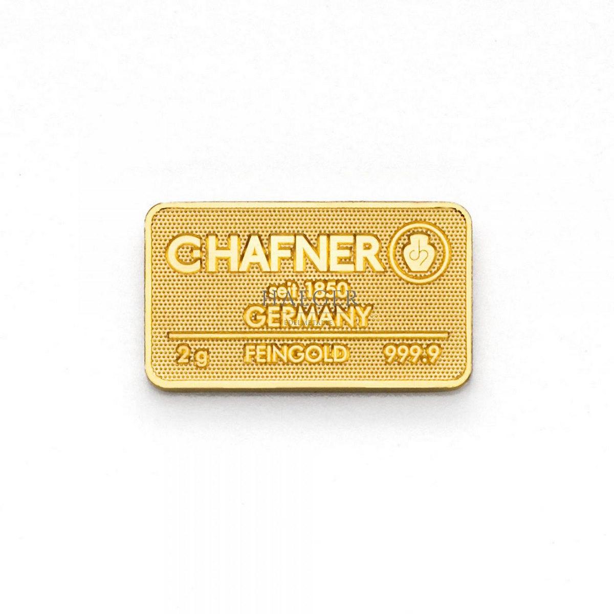 2g Goldbarren Hafner c