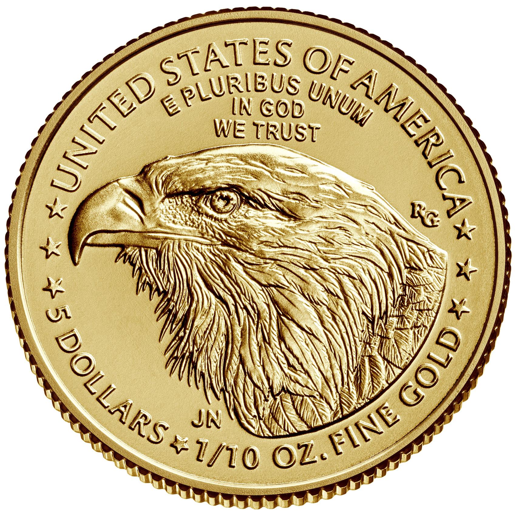 1/10 Unze (oz) American Eagle Neuware - neues Motiv