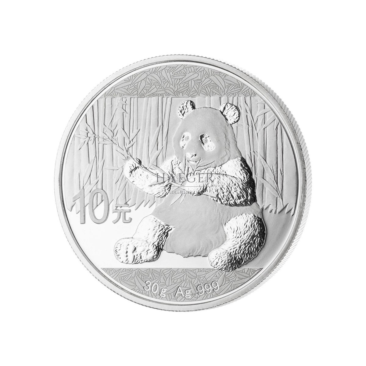 30 g China Panda Silbermünze Neuware Jahrgang 2021
