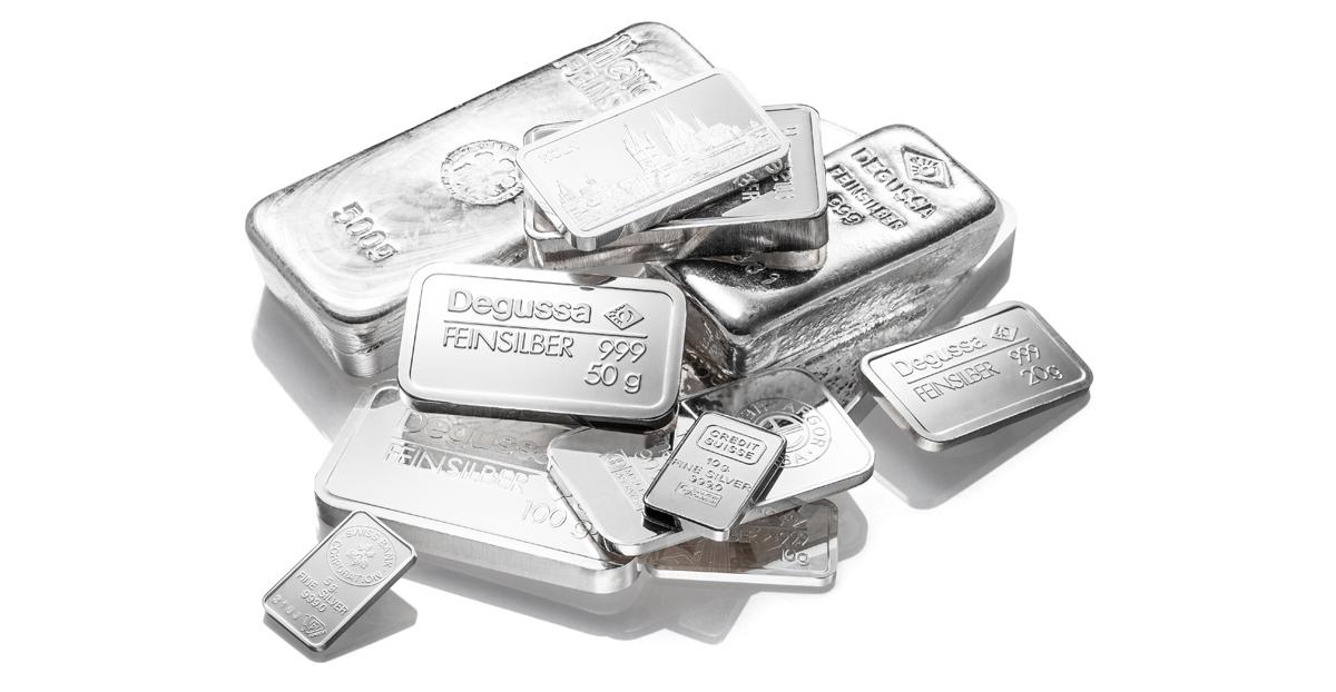 Silberbarren kaufen Preise