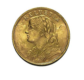 20 Franken Vreneli Goldmünze b