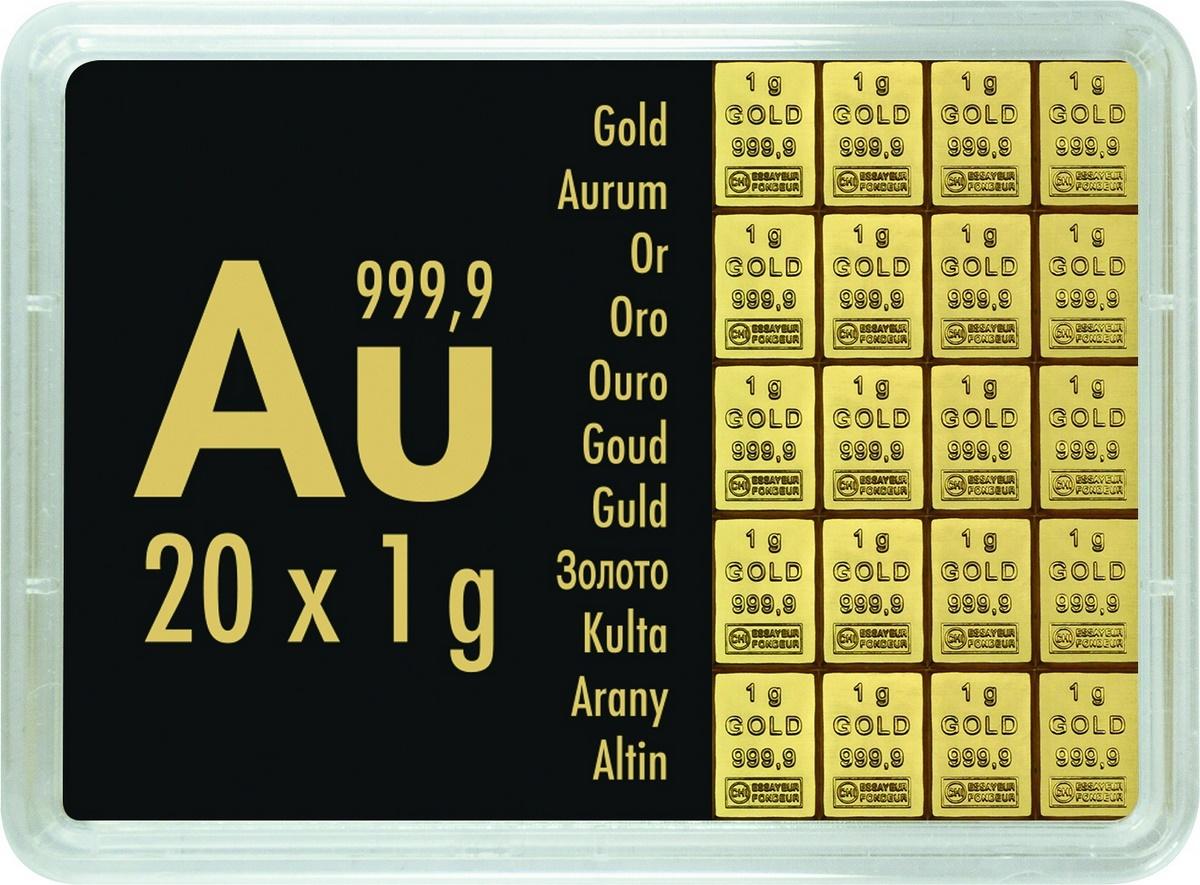 20 g (20 x 1 g)  Valcambi CombiBar Goldbarren Neuware