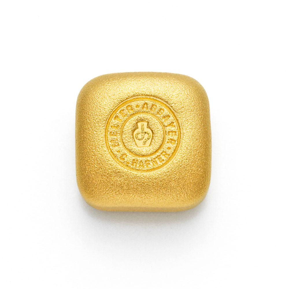 1 Unze Goldbarren Hafner Guss c