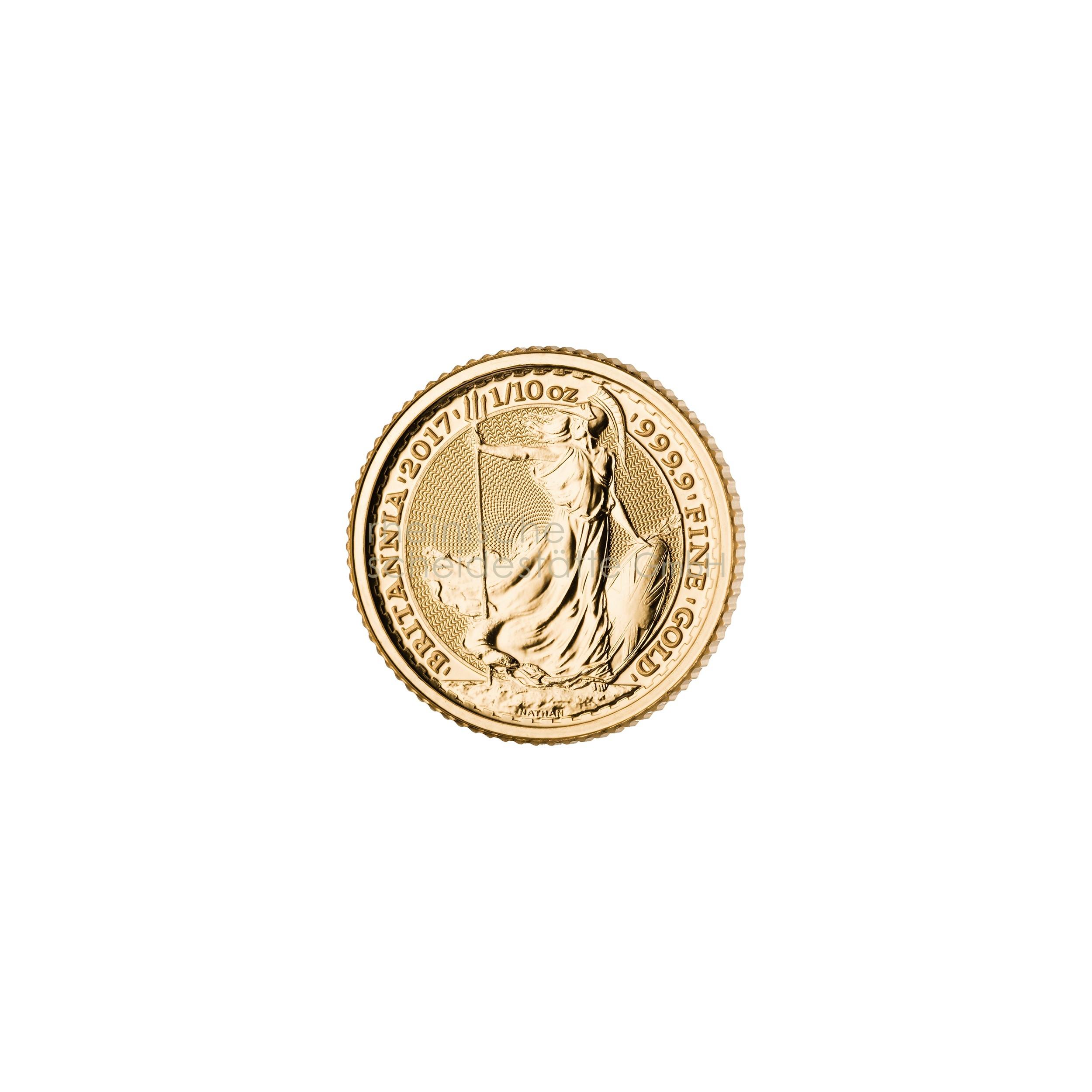1/10 Unze Britannia Goldmünze 1