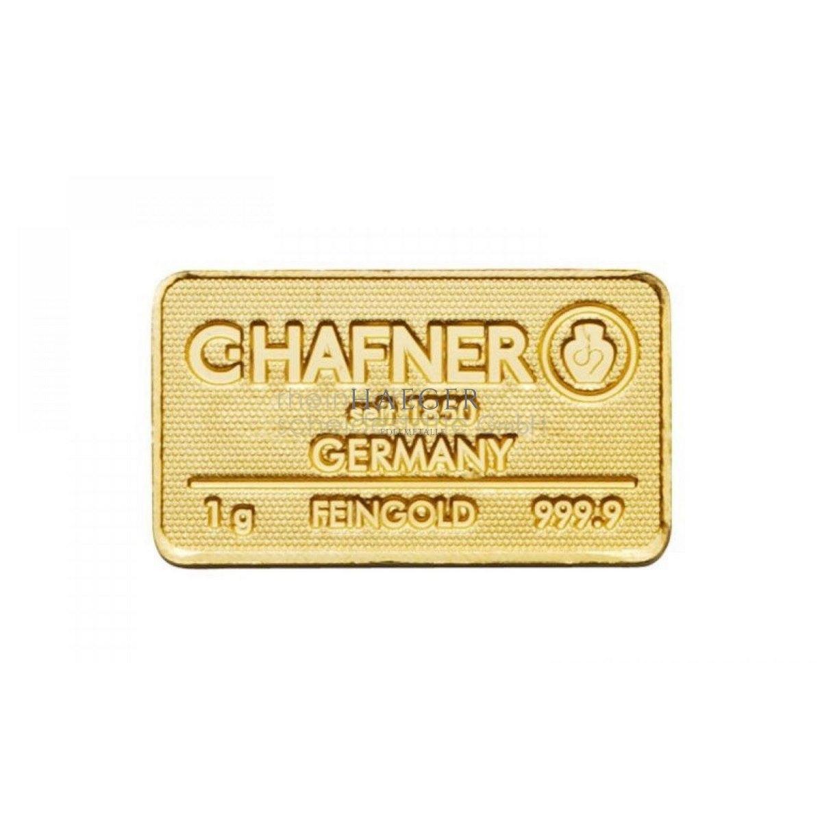 1g Goldbarren Hafner c