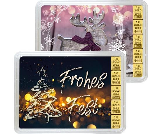 """5 g Goldbarren Geschenkbarren """"Weihnachten"""""""