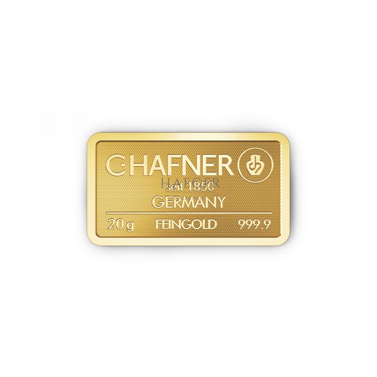 20g Goldbarren Hafner c