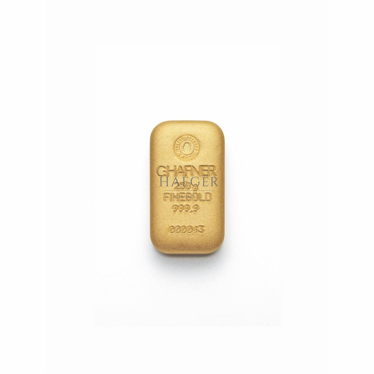 250g Goldbarren Hafner Guss c