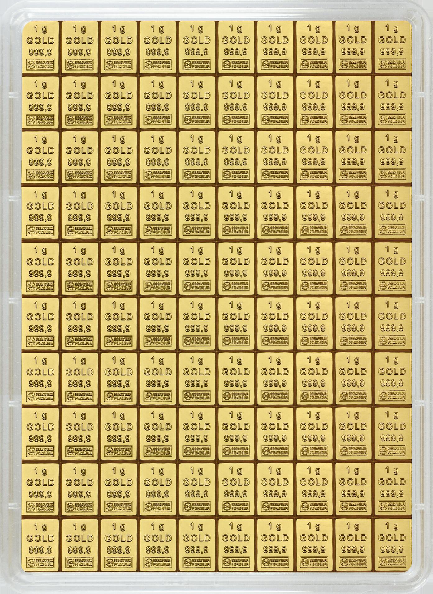 100 g (100 x 1 g Goldbarren) Valcambi CombiBar