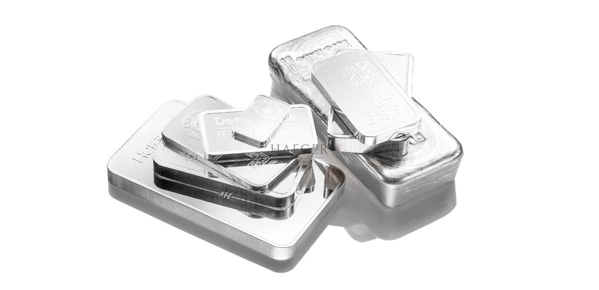 Silberbarren kaufen Shop