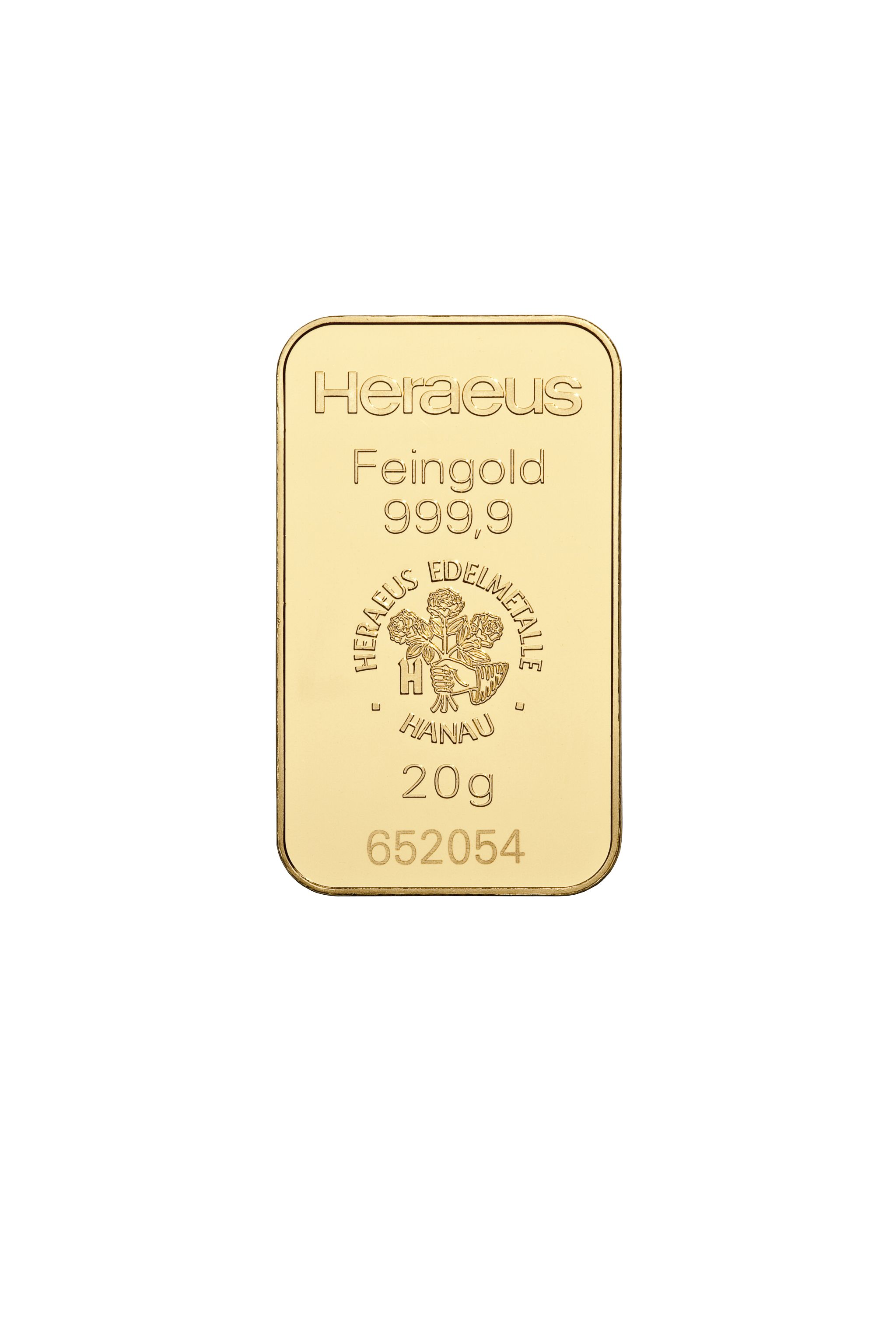 20g Heraeus Goldbarren