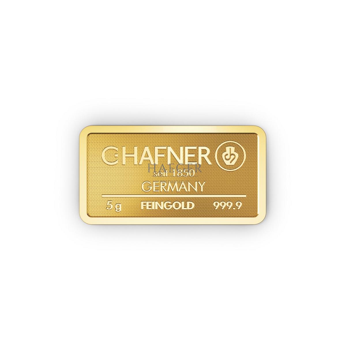 5g Goldbarren Hafner c
