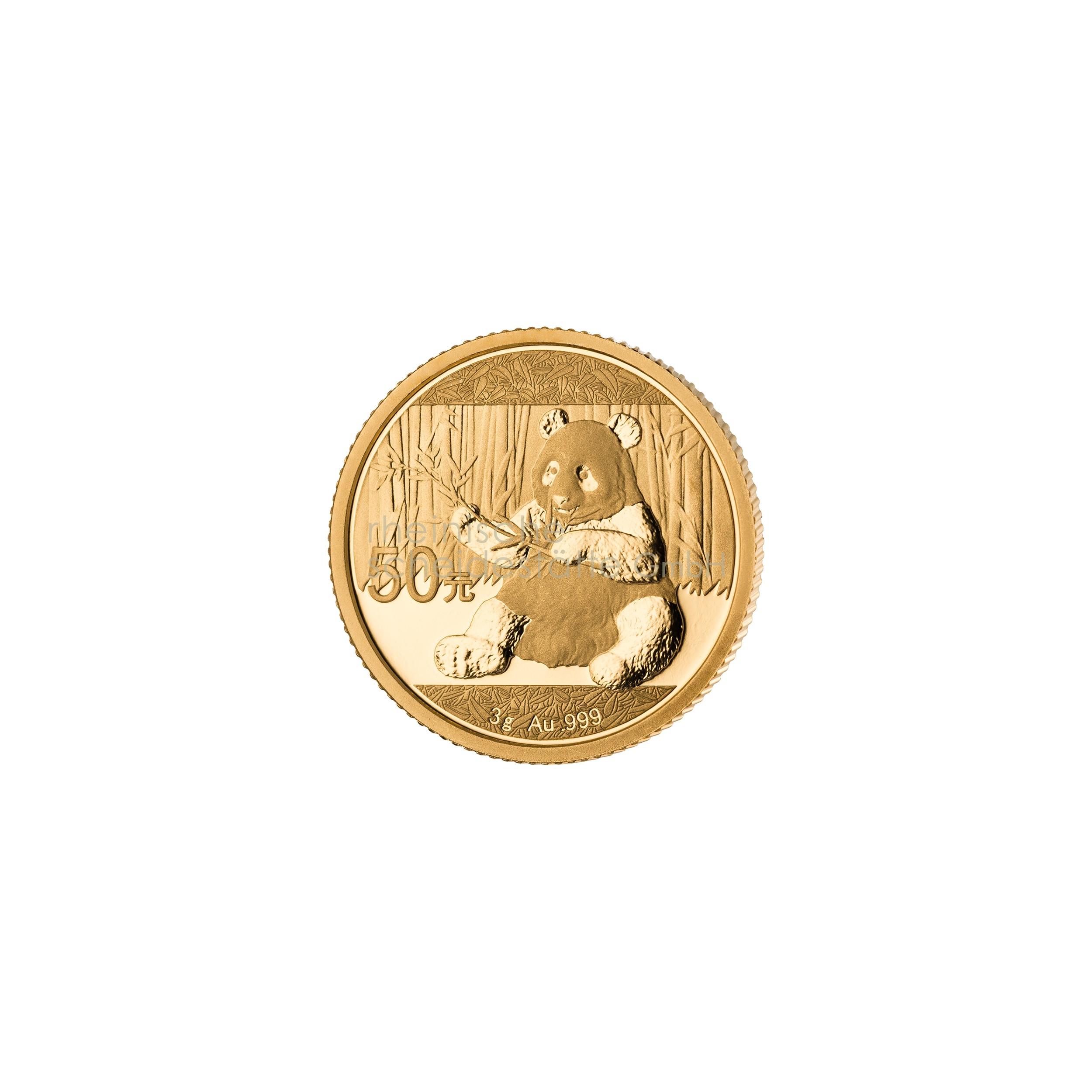 3g China Panda Goldmünze 1