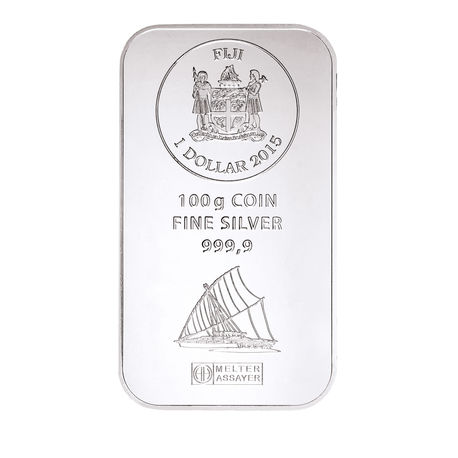 100g Silberbarren Fiji