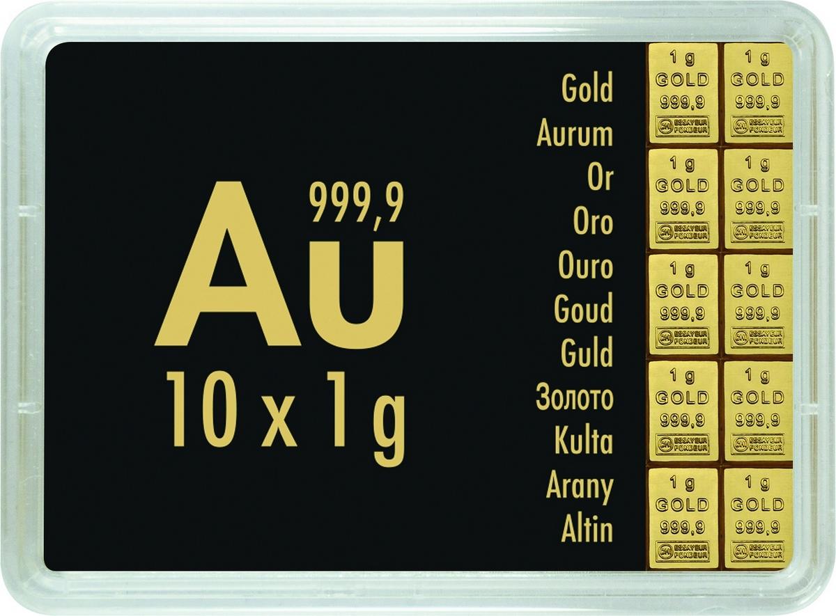 10 g (10 x 1 g) Valcambi CombiBar Goldbarren Neuware