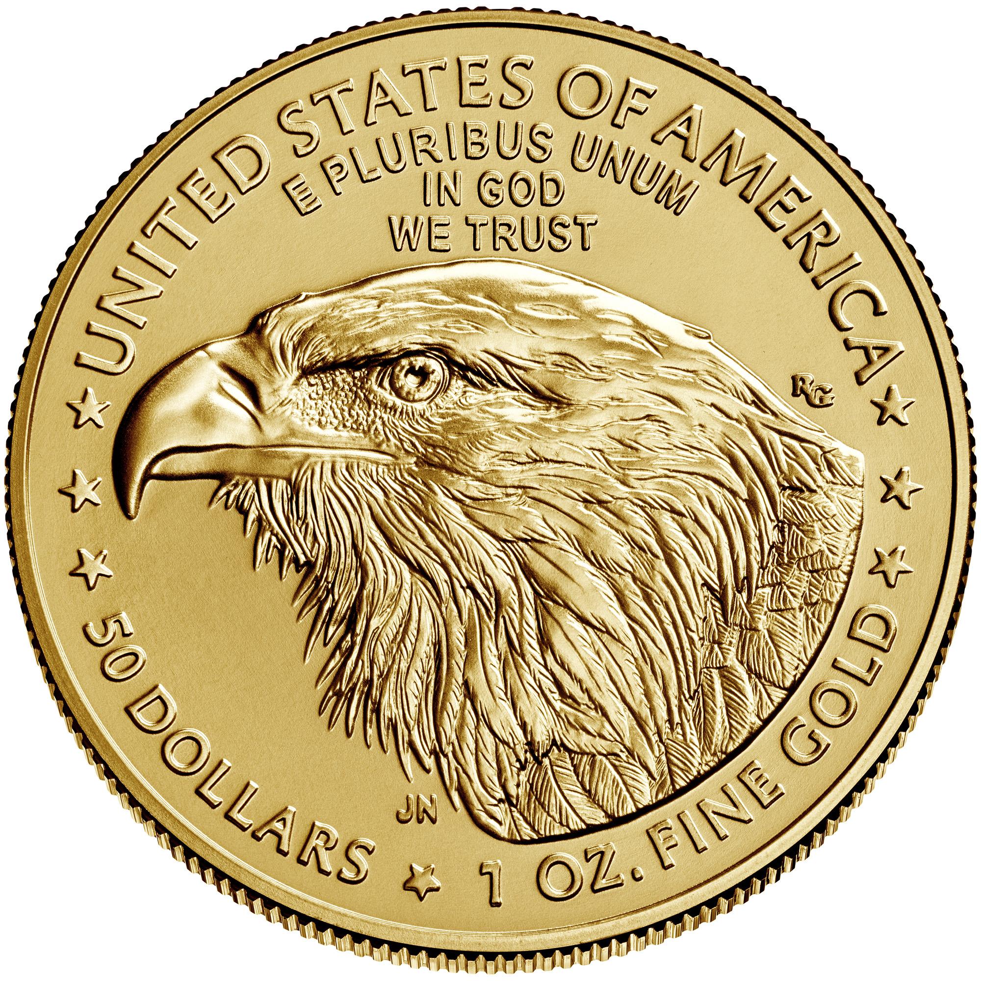 1 Unze (oz) Gold American Eagle Neuware - neues Motiv